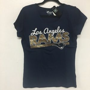 LOS ANGELES RAMS WOMENS BLOUSE/ SHIRT BLUE & GOLD